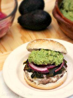 Roasted Poblano burger