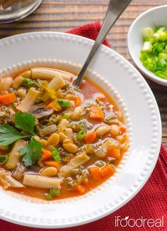 Soups Recipes : Crockpot Pasta e Fagioli Soup  : Soups Recipes
