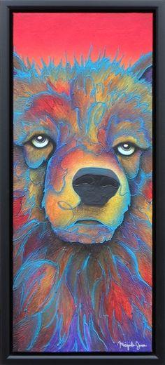"""Dawi-a"" (Little Brother) - Contemporary bear painting by Micqaela Jones. Jackson Hole art gallery. #micqaelajones"