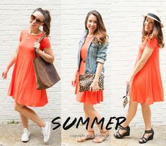 Summer Capsule Wardrobe Swing Dress