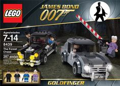 I always wanted to see James Bond Lego sets, although it'll never happen. I had a lot of fun putting these together. Indiana Jones, Aston Martin, Estilo James Bond, James Bond Goldfinger, Best Lego Sets, Bond Cars, Lego System, Cool Lego Creations, Lego Design