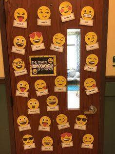 44 Ideas for emoji classroom door ideas New Classroom, Classroom Setting, Classroom Design, Classroom Displays, Kindergarten Classroom, Classroom Themes, Classroom Activities, Classroom Bulletin Boards, Classroom Organization