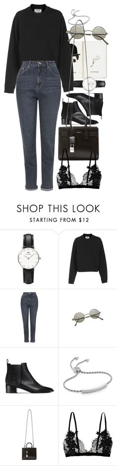 """""""Untitled #8730"""" by nikka-phillips ❤ liked on Polyvore featuring Daniel Wellington, Acne Studios, Topshop, Ardene, Monica Vinader and Yves Saint Laurent"""