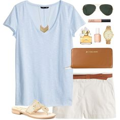 A fashion look from August 2014 featuring H&M tops, J.Crew shorts and Jack Rogers sandals. Browse and shop related looks.