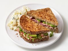 Ham and Goat Cheese Sandwiches recipe from Food Network Kitchen via Food Network