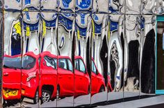 The red car Mirrors, Car, Automobile, Mirror, Vehicles, Cars, Autos