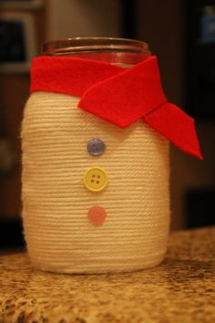 Day 353 – Snowman Mason Jar | 366 Days of Pinterest