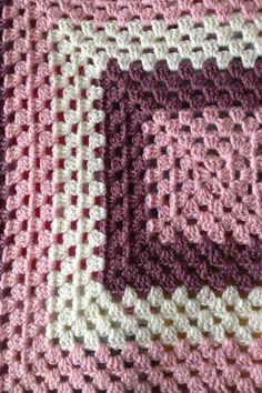Handmade crotchet blanket.
