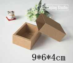 Free Shipping Kraft Drawer Paper Box Handmade Soap Party Gift Craft Candy…