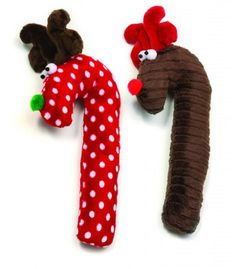 West Paw Design Crinkle Cane Deer Holiday Squeak Toy for Dogs Brown -- Check this awesome product by going to the link at the image. (Note:Amazon affiliate link)