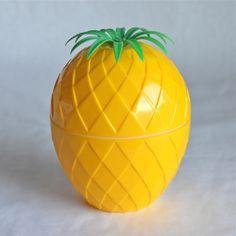 bac à glaçons Ananas jaune vintage - Deco Graphic