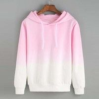 Specification: Gradient color hooded pullover hoodie sweatshirt. Made of high quality material, i