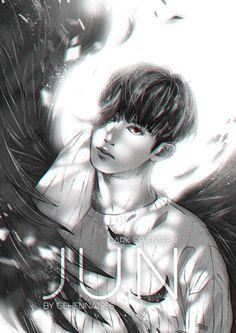 JUN [SEVENTEEN DARK ANGEL PROJECT 7/13] MY FANART, PLEASE DON'T REUP