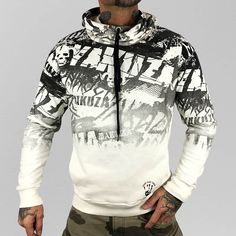 Look for the newest artist hoodies. Purchase hanging hoodies from hundreds of top-class luxurious product labels. Mens Fashion Suits, Fashion Pants, Fashion Hoodies, Fashion Outfits, Hoodie Outfit, Sweater Hoodie, American Fighter Shirts, Rockabilly, Gentleman