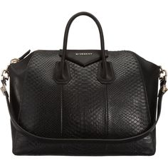 Large Antigona Duffel in Black Python. #GivenchyLove
