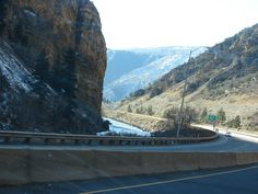Heading West On I-70 Traveling Through The Rocky Mountain Region During A Trip To Utah. This Is Some Scenery West Of The Continental Divide. Approaching The Glenwood Springs, Colorado Area.This Is The Glenwood Canyon Area East Of Glenwood Springs, Colorado. The Colorado River Is On The Left Down The Enbankment.You Can See The I-70 East Bound Lanes Below By The River Bank  I Took This Photo With A Sony DSC-H2 Camera On November 18, 2006.