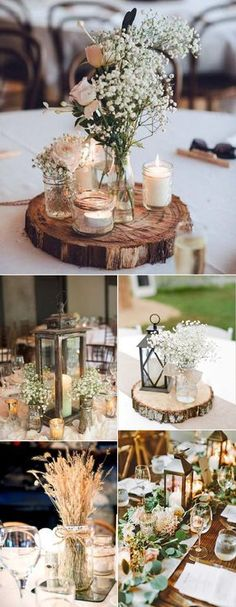 wedding centerpieces for rustic wedding decoration ideas