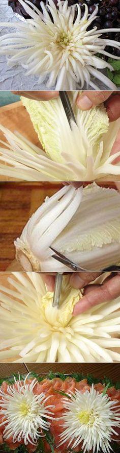 Хризантема из пекинской капусты | Рецепты моей мамы