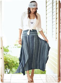 beautiful skirt [what about 4 rectangles of fabric - I have a visually how it might fall, but would it look good]