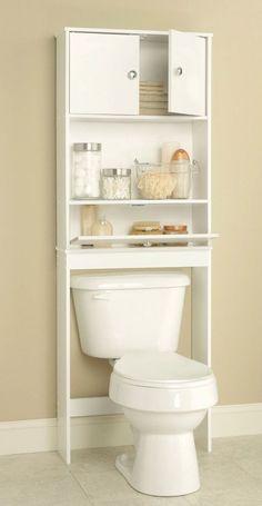 Wood Bathroom Vanity Space Saver Storage Medicine White Shelf Cabinet Furniture  #Unbranded