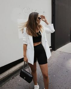 Trendy Summer Outfits, Short Outfits, Cool Outfits, Casual Outfits, Summer Clothes, Amazing Outfits, Casual Summer, Legging Outfits, Blazer Outfits