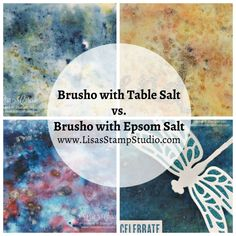 Video tutorial on using Brusho with table salt versus Epsom salt for beautiful, textured backgrounds. Stampin' Up! Brusho Techniques, Colouring Techniques, Watercolor Techniques, Art Techniques, Card Making Tutorials, Card Making Techniques, Making Ideas, Fabric Painting, Watercolor Painting