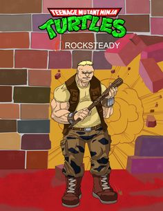 Punk Gang member from TMNT Punk with hat Ninja Turtles Art, Teenage Mutant Ninja Turtles, Bebop And Rocksteady, Joker And Harley Quinn, Cartoon Movies, Old Toys, Tmnt, Nerdy, Concept Art