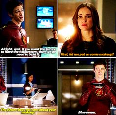 the flash 1x11<<< Barry ahh!!!!! Look at his face, he thinks she beautiful without it!!!! My shippers heart