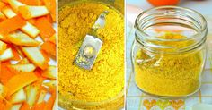 prášek z pomerančové kůry