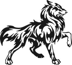 Imgs For > Indian Wolf Symbol Wolf Tattoo Design, Tribal Wolf Tattoo, Wolf Tattoos, Animal Tattoos, Body Art Tattoos, Lobo Tribal, Tribal Art, Tribal Drawings, Wolf Drawing Easy
