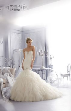 Style 2685 from the Mori Lee Bridal collection for Fall 2014 – check out the rest of the wedding dresses here!