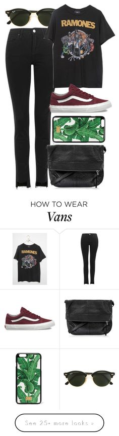 """""""Untitled #5551"""" by rachellouisewilliamson on Polyvore featuring Topshop, Ray-Ban, Vans and Dolce&Gabbana"""