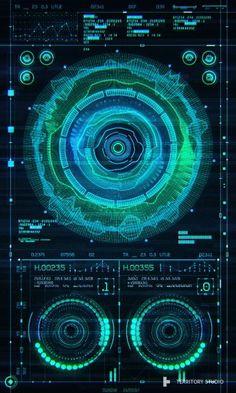 Marti Romances for Territory - Guardians of The Galaxy UI - - Futuristic Technology, Futuristic Design, Visualisation, Data Visualization, Dog Wallpaper, Pattern Wallpaper, Web Design, Graphic Design, Technology Wallpaper