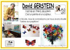 """La dernière petite section de mon école a travaillé sur l'arbre aux papillons de David Gerstein. Les enfants l'ont appelé ainsi même si son vrai nom est """"Synergie"""". Un peu difficile à retenir pour des petits."""