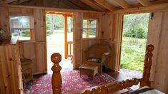 Another inside view of West Quebec Shed converted shed style building into a beautiful sleeping cabin. Converted Shed, Custom Sheds, Small Cottages, Quebec, Cabin, Building, Beautiful, Style, Swag