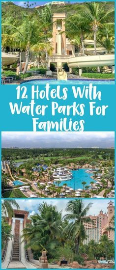 12 hotels with water parks for families - including family resorts in the Caribbean, Florida, and Arizona. Hotels from all over Family Resorts In Florida, Arizona Resorts, All Inclusive Family Resorts, Park Resorts, Florida Vacation, Hotels And Resorts, Family Vacations, Disney Resorts, Family Trips