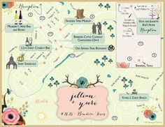 Rustic, Western, Country Chic Bandera, Texas Wedding Map