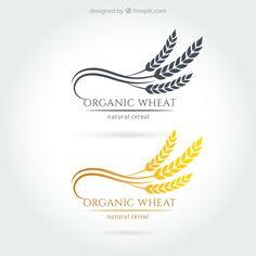 Logotipos trigo orgânicos