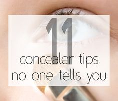 "best undereye concealer tips - this is really true, especially about the ""triangle"" - it looks more natural to follow the hollow of your eye down your nose about halfway. I've started doing it and it makes a big impact."