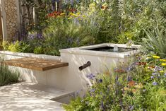 The Widex Hearing Garden was the first RHS Show Garden created at the Hampton Court Palace Flower Show with the design focus on the sounds found in gardens. © Marianne Majerus