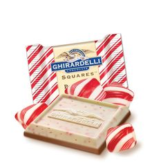 Limited Edition Peppermint Bark SQUARES Chocolates - Case Pack #GhirardelliChocolate
