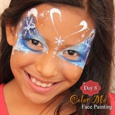 25 Days of Christmas Face Painting. Snowflake butterfly - Color Me Face Painting
