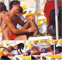Soccer player Cristiano Ronaldo. His son is biracial as well.