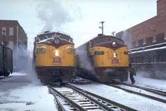cold day in Des Moines on the Rock Island RR, late 50's, early 60's