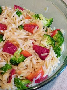 Seizing Life, One Measuring Cup At A Time: Strawberry & Broccoli Orzo Pasta Salad with Lemon Poppy Seed Vinaigrette