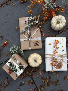 Herbst Schenken mit Herz Verkackungsidee