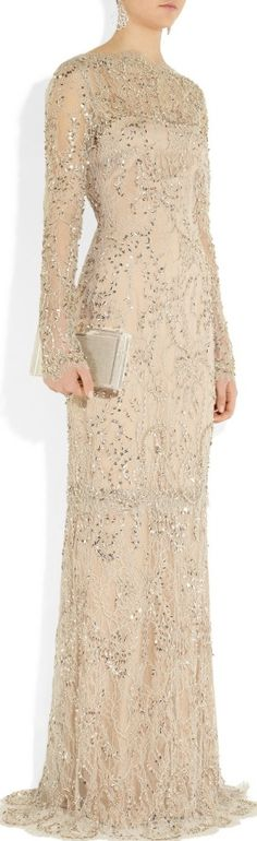 THIS COULD BE THE PERFECT WEDDING DRESS FOR LIKE A SECOND MARRIAGE......Marchesa RESORT 2014    jaglady