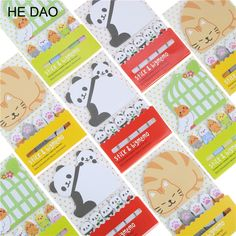 1pcs Cute Cat Panda N Times Sticky Notes Memo Pad Paper Sticker Post It Notepad Gift Office Stationery Escolar #Affiliate