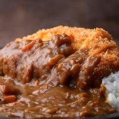 Japanese Pork Cutlet (Tonkatsu) With Curry Recipe by Tasty - Pork Recipes Curry Recipes, Pork Recipes, Asian Recipes, Pork Cutlet Recipes, Tasty Japan, Plenty Cookbook, Kids Cookbook, Cookbook Ideas, Protein Shakes