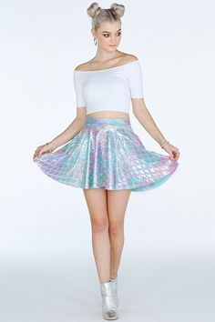 Mermaid Pastel Pocket Skater Skirt- Limited (A$65)